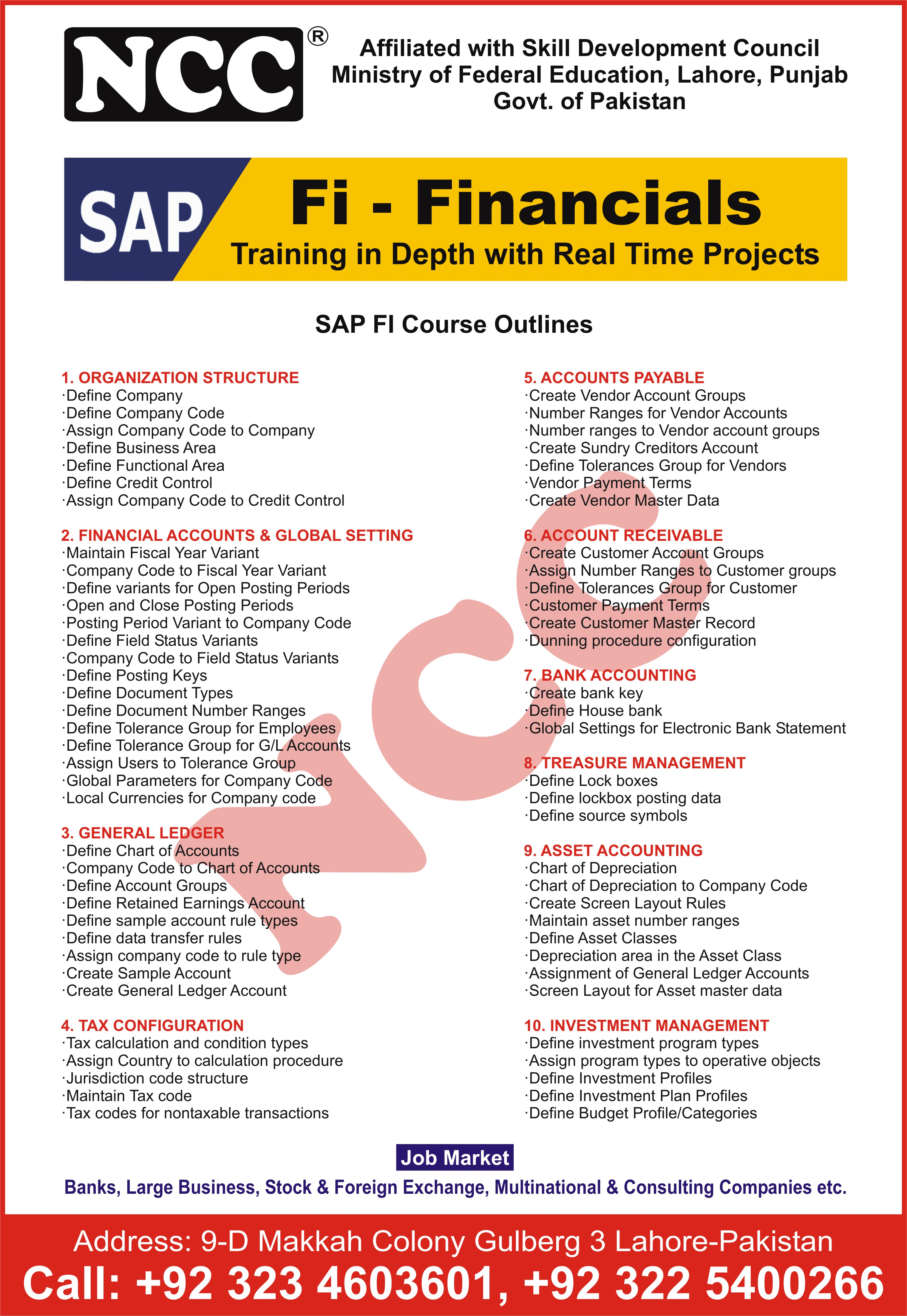SAP Business One Training Courses in Lahore By NCC College